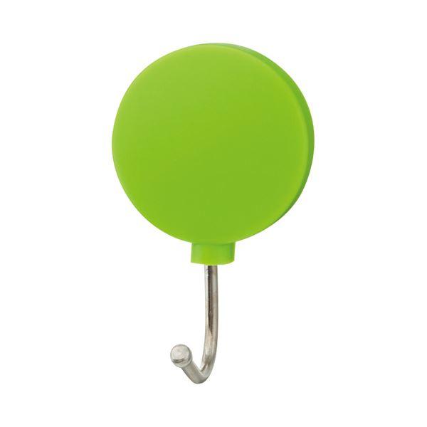 (まとめ) TANOSEE カラーマグネットフック スイング 耐荷重約1kg 緑 1個 【×100セット】