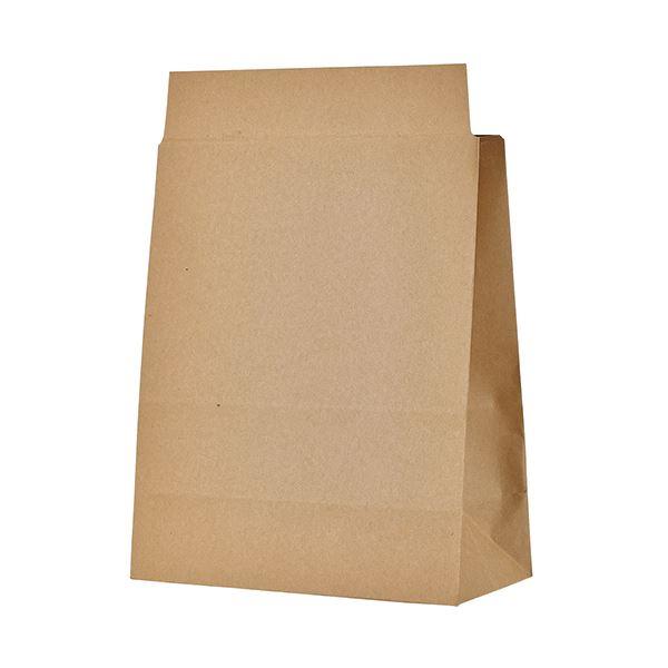 (まとめ)TANOSEE 宅配袋 マチ広 小 茶封かんテープ付 1パック(100枚)【×3セット】