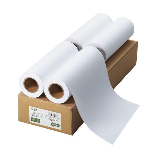 (まとめ) TANOSEE インクジェット用普通紙 A3ロール 297mm×50m 1箱(4本) 【×5セット】