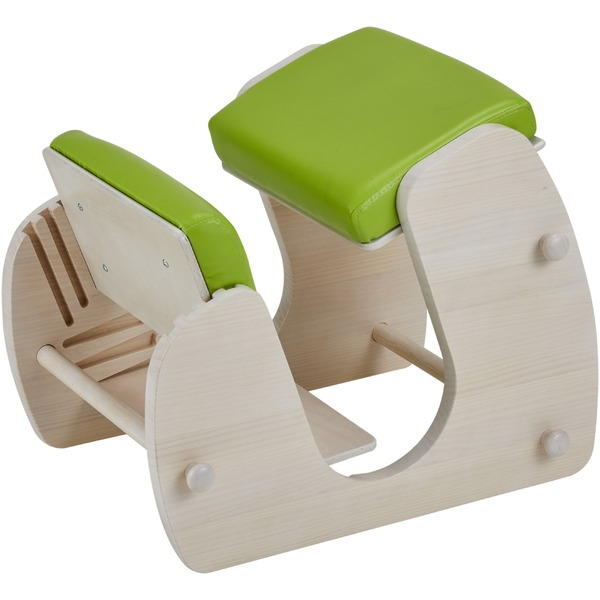 Keepy プロポーションチェア ホワイト×グリーンアップル 猫背 姿勢 チェア 学習チェア テレワーク CH-910 【組立品】【代引不可】【送料無料】