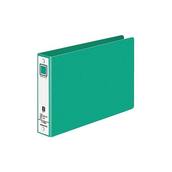 (まとめ) コクヨ リングファイル 色厚板紙表紙B6ヨコ 2穴 220枚収容 背幅38mm 緑 フ-408NG 1冊 【×50セット】