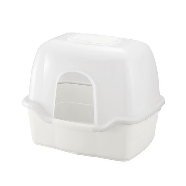 フード付きタイプのネコトイレ ラプレ ネコトイレ 深型 60フード付 ペット用品 売買 ホワイト 期間限定特別価格