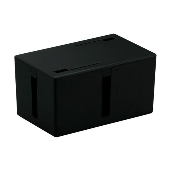 BSTB01SBK ケーブルボックス 電源タップ&ケーブル収容 【×5セット】 1個 ブラック (まとめ) バッファロー Sサイズ