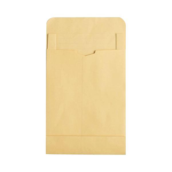 (まとめ) TANOSEE マチ付クラフト大型封筒(幅広) 角2 120g/m2 1パック(50枚) 【×5セット】