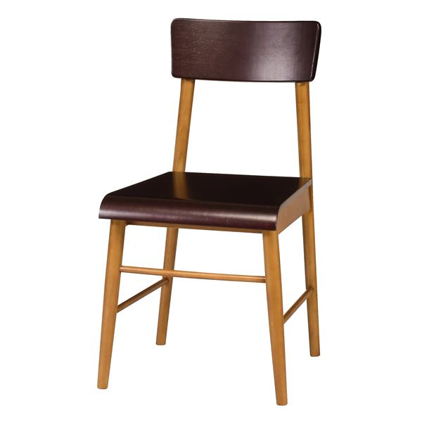パーソナルチェア/椅子 【幅430×奥行470×高さ780mm】 木製脚付き 成型合板 〔リビング ダイニング〕 完成品【代引不可】