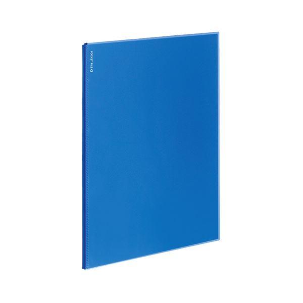 (まとめ)コクヨ ポケットファイルα(ノビータα)固定式 A4タテ 6ポケット 背幅3mm 青 ラ-NF6B 1セット(10冊)【×5セット】