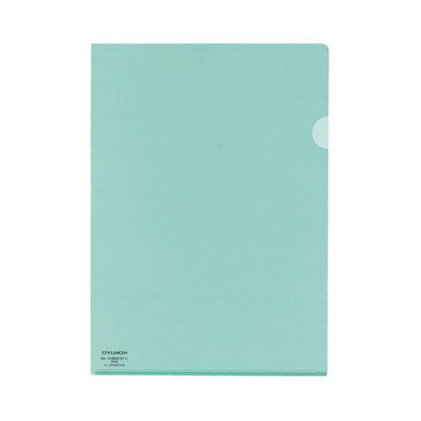 (まとめ) コクヨ クリヤーホルダースーパークリヤー10(テン) A4 エメラルドグリーン フ-TC750N-3 1パック(5枚) 【×30セット】