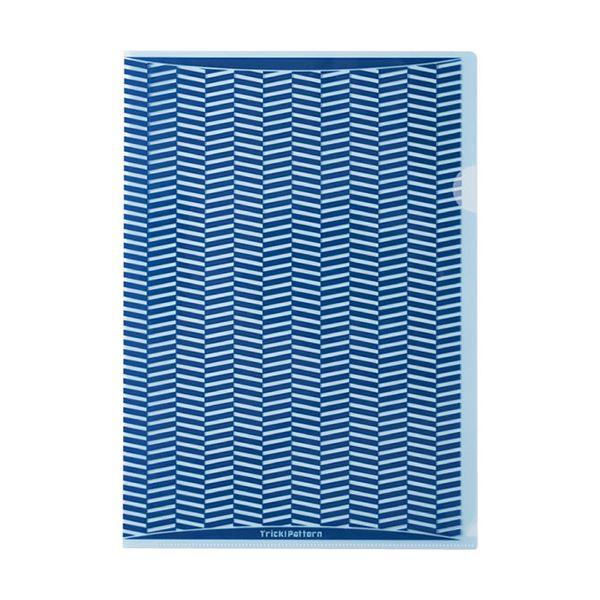 (まとめ) ヒサゴ トリック!クリアフォルダ A4ブルー OP2448 1パック(10枚) 【×10セット】
