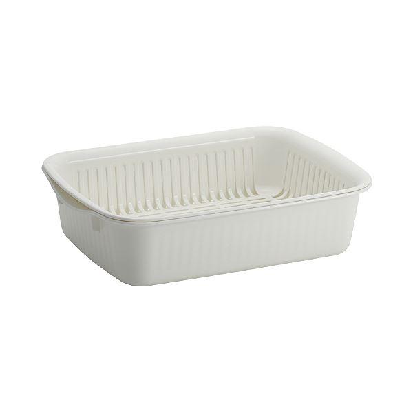 (まとめ) アスベル ポゼ 水切りバット ホワイト 1セット 【×10セット】:リコメン堂生活館