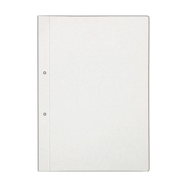 (まとめ) TANOSEE 板目表紙 A4タテ 2穴 業務用パック 1パック(50組100枚) 【×5セット】