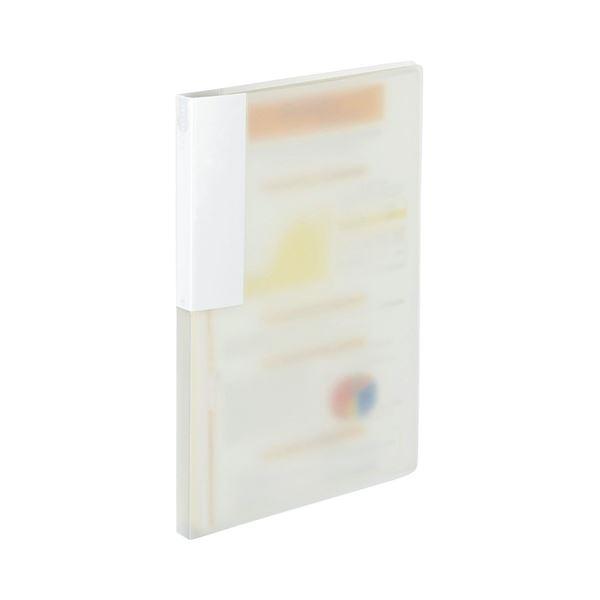 (まとめ) TANOSEE レターファイル(PP) A4タテ 120枚収容 背幅18mm クリア 1冊 【×50セット】
