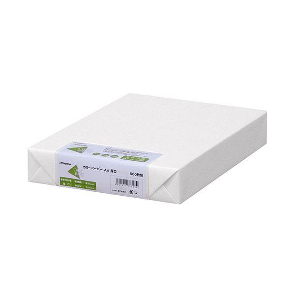 (まとめ) 長門屋商店 Color Paper A4厚口 白 ナ-3351 1冊(500枚) 【×5セット】