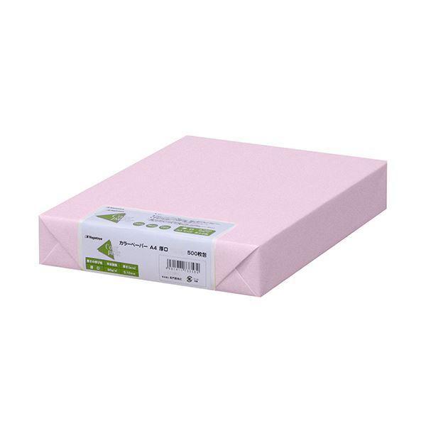(まとめ) 長門屋商店 Color Paper A4厚口 さくら ナ-3369 1冊(500枚) 【×5セット】