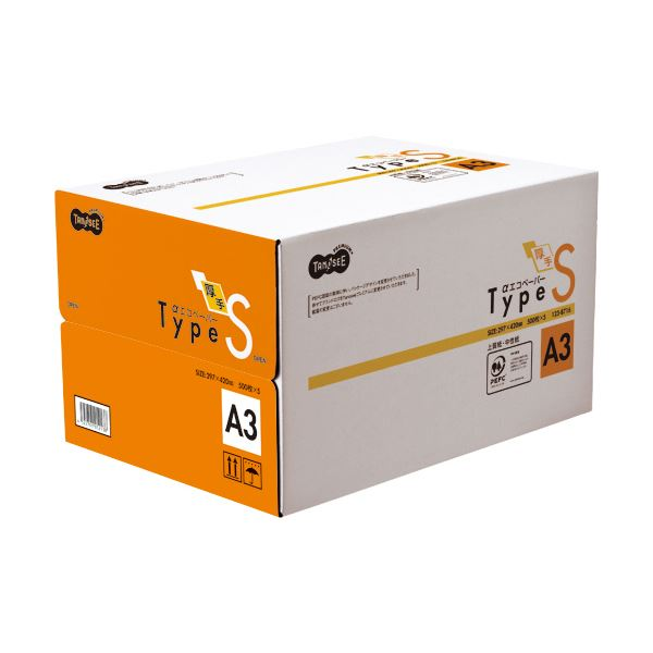 (まとめ)TANOSEE αエコペーパー タイプSA3 1箱(2500枚:500枚×5冊)【×3セット】