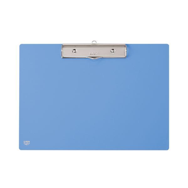 (まとめ) ライオン事務器 PETカラー用箋挟A4ヨコ ブルー No.221K 1枚 【×30セット】