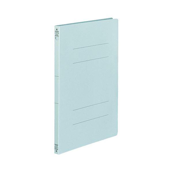 (まとめ) コクヨ フラットファイル(二つ折りタイプ) A4タテ 150枚収容 背幅18mm 青 フ-VF10B 1セット(10冊) 【×10セット】