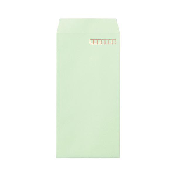 (まとめ)寿堂 カラー上質封筒 長3 〒枠ありサイド貼 テープのり付 ワカクサ 10552 1パック(1000枚)【×3セット】