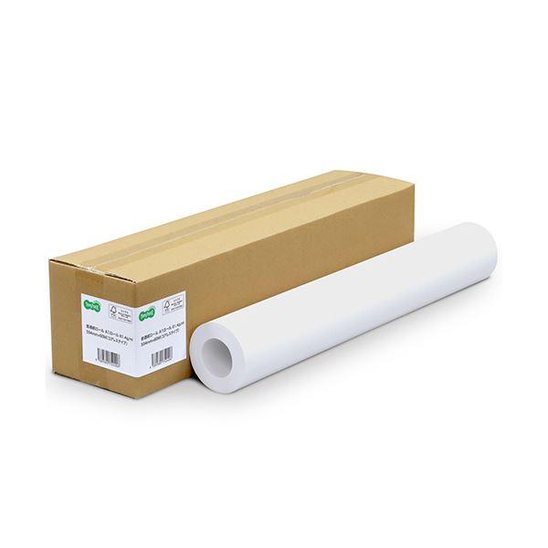(まとめ) TANOSEE普通紙ロール(コアレスタイプ) A0ロール 841mm×60m 64g 1本 【×5セット】