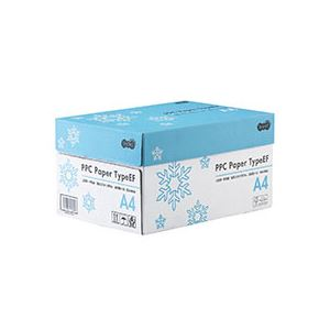 (まとめ) TANOSEE PPC PaperType EF A4 1箱(5000枚:500枚×10冊) 【×5セット】