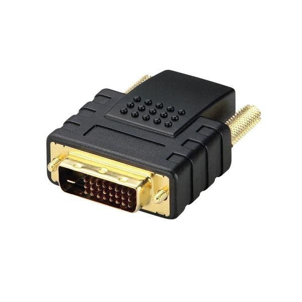 (まとめ)エレコム HDMI DVI変換アダプタ(HDMI)メス-(DVI-D24pin)オス AD-HTD 1個【×2セット】