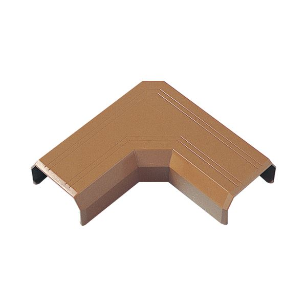 (まとめ)サンワサプライ ケーブルカバー22mm幅 L型 ブラウン CA-KK22BRL 1個【×30セット】