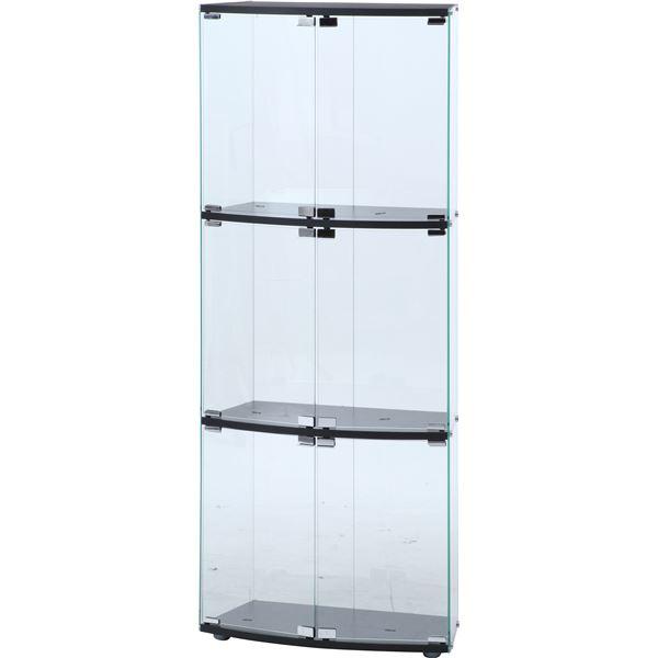 【予約販売品】 ガラスディスプレイケース3段 TMG-G117 TMG-G117 ブラック【幅60×奥行30×高さ152cm】【 ガラスディスプレイケース3段】, スリコム:f7bdb72c --- technosteel-eg.com