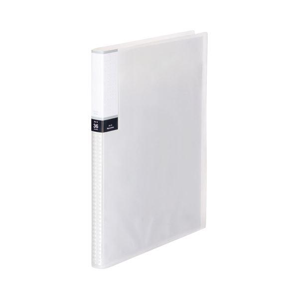 (まとめ) TANOSEE クリアブック(透明表紙) A4タテ 36ポケット 背幅20mm クリア 1セット(10冊) 【×10セット】