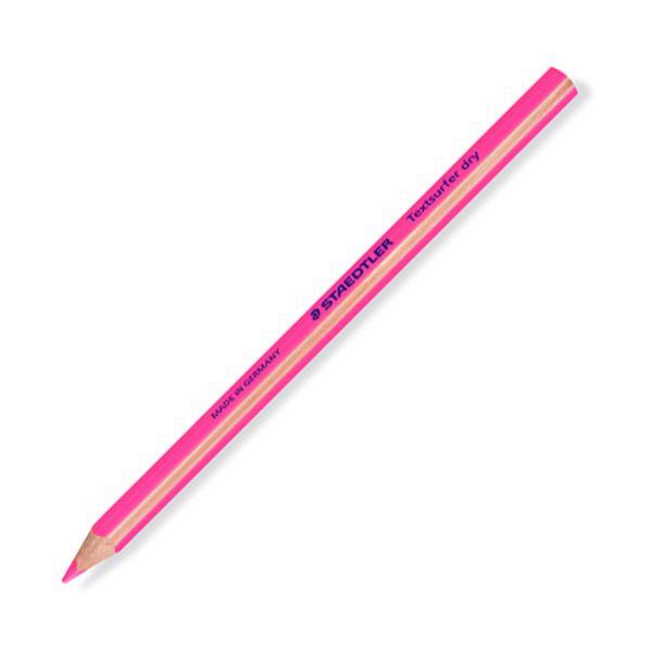 マーキングやイラストに 発色あざやかで便利な蛍光色鉛筆 まとめ 結婚祝い ステッドラー 送料込 テキストサーファー ドライ蛍光色鉛筆 太軸 ×10セット 64-23 1セット ネオンピンク 128 12本