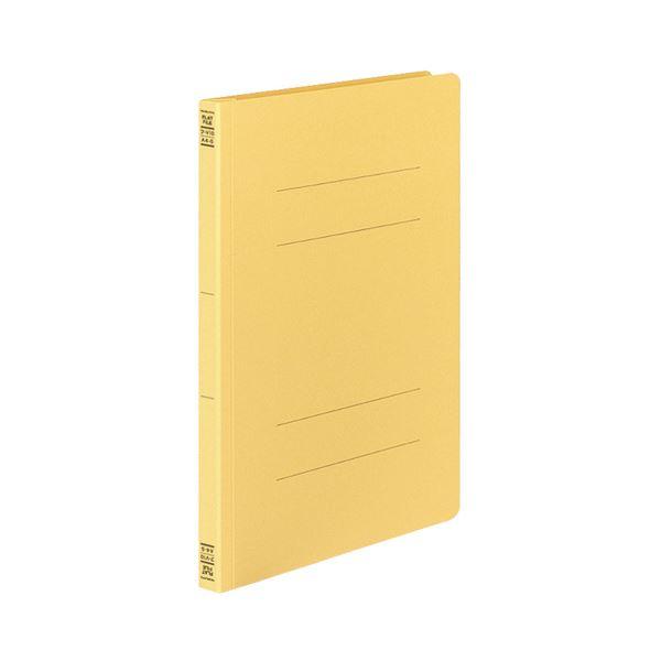 (まとめ)コクヨフラットファイルV(樹脂製とじ具) A4タテ 150枚収容 背幅18mm 黄 フ-V10Y1セット(100冊:10冊×10パック)【×3セット】