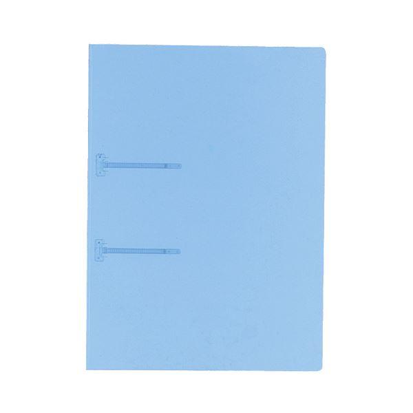 (まとめ) コクヨ ファスナーファイル(クリヤーカラー) A4タテ 2穴 90枚収容 青 フ-P170B 1冊 【×100セット】