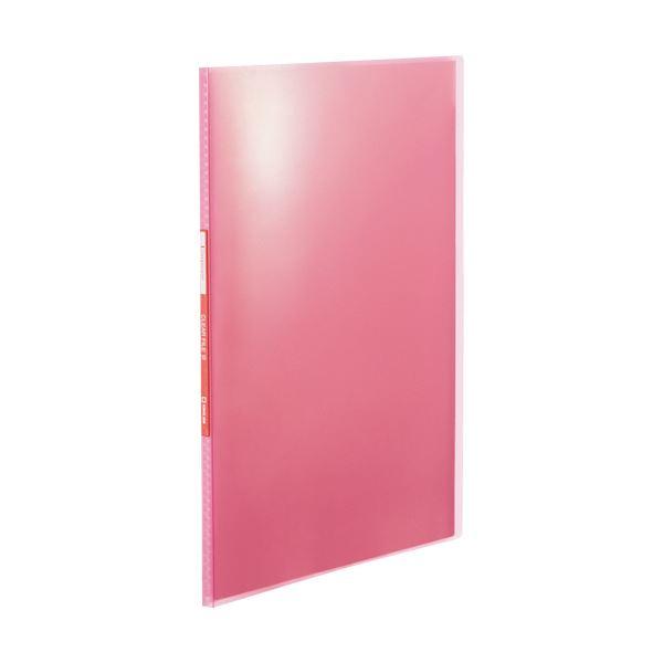 (まとめ) キングジム シンプリーズクリアーファイル(透明) A4タテ 10ポケット 背幅10mm ピンク TH184TSPHP 1冊 【×100セット】