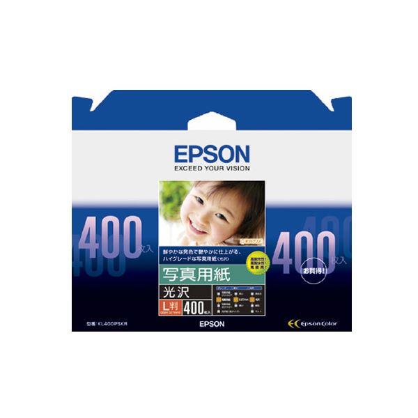 (まとめ) エプソン EPSON 写真用紙<光沢> L判 KL400PSKR 1箱(400枚) 【×5セット】