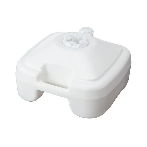 (まとめ) 店研創意 ストア・エキスプレスのぼり用ポールスタンド 注水型 白 1台 【×10セット】