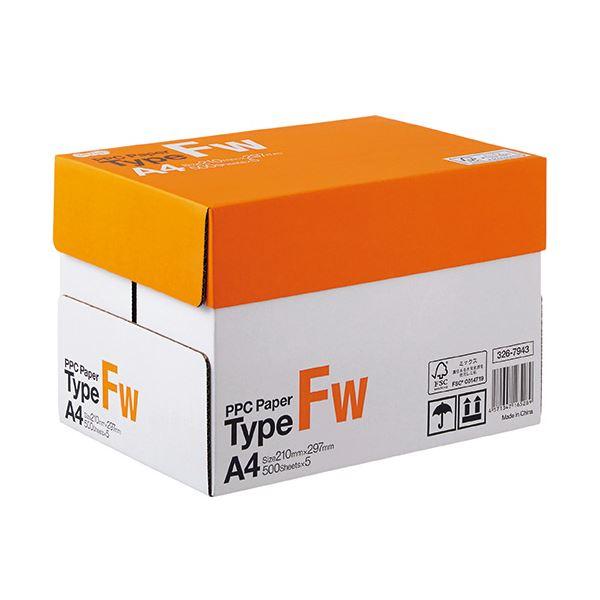 (まとめ) TANOSEE PPC PaperType FW A4 PPCFW-A4-5 1箱(2500枚:500枚×5冊) 【×5セット】