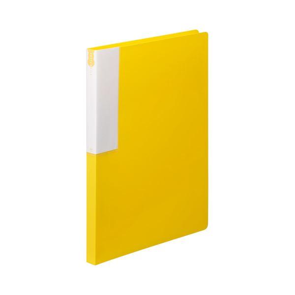 (まとめ) TANOSEE レターファイル(PP) A4タテ 120枚収容 背幅18mm イエロー 1セット(10冊) 【×10セット】