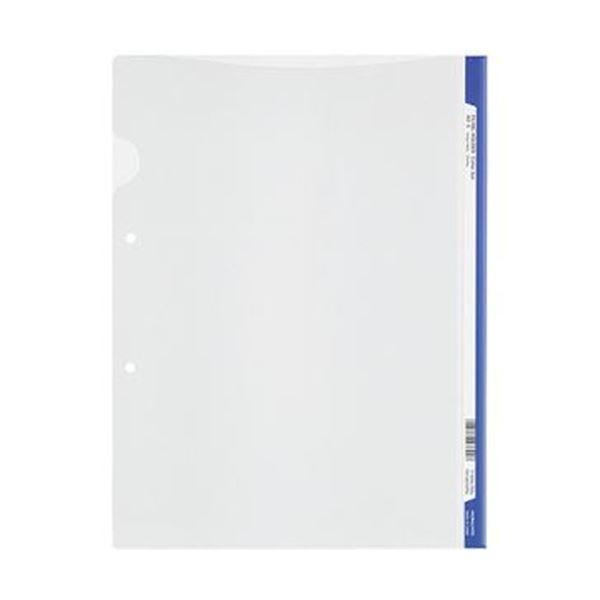 (まとめ)コクヨ ファイリングホルダー<カラーバー> 2穴あき・ロング見出しカード付き A4 青 フ-GHL750B 1セット(5冊)【×20セット】