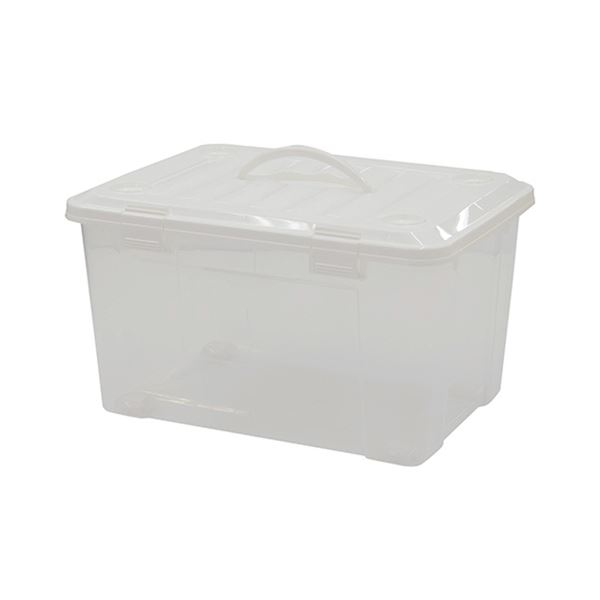 (まとめ) 天馬 プロフィックスフリーボックス55ハンドル付 ホワイト 811000262 1個 【×5セット】