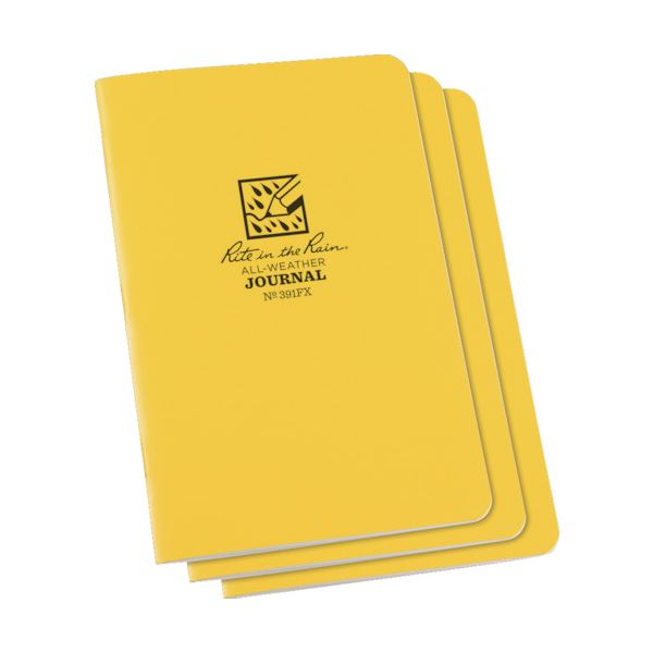 (まとめ) ライトインザレインステイプルノートブック(セット) ジャーナル 391FX 1パック(3冊) 【×5セット】