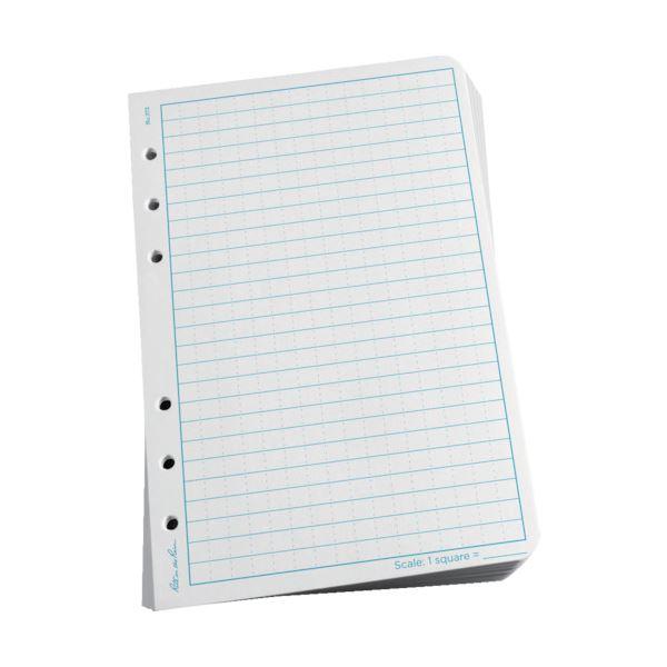 (まとめ) ライトインザレイン ルーズリーフユニバーサル ホワイト 372 1パック(100枚) 【×5セット】