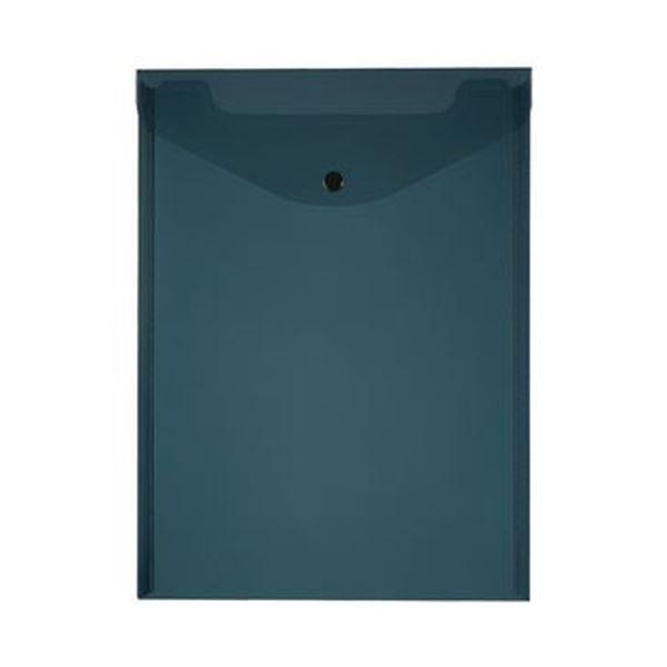 (まとめ)TANOSEE エンベロープ A4タテ ブラック 1セット(20枚:4枚×5パック)【×10セット】
