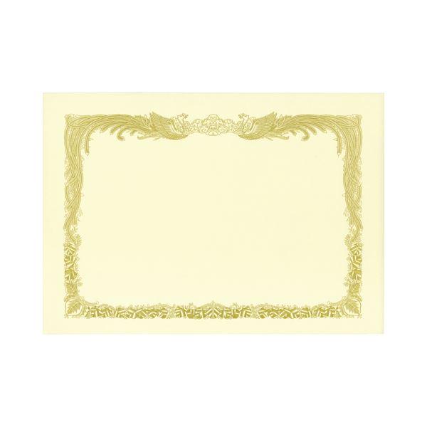 (まとめ) TANOSEE 賞状用紙 クリーム A4 タテ書用 業務用パック 1ケース(100枚) 【×5セット】