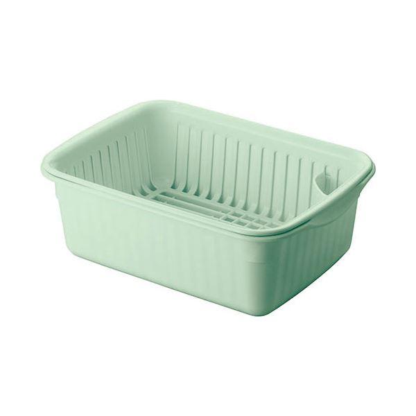 セール特価品 水切りラック 抗菌 水切りカゴ Nポゼ 水切りセット ショップ 4309 中 グリーン