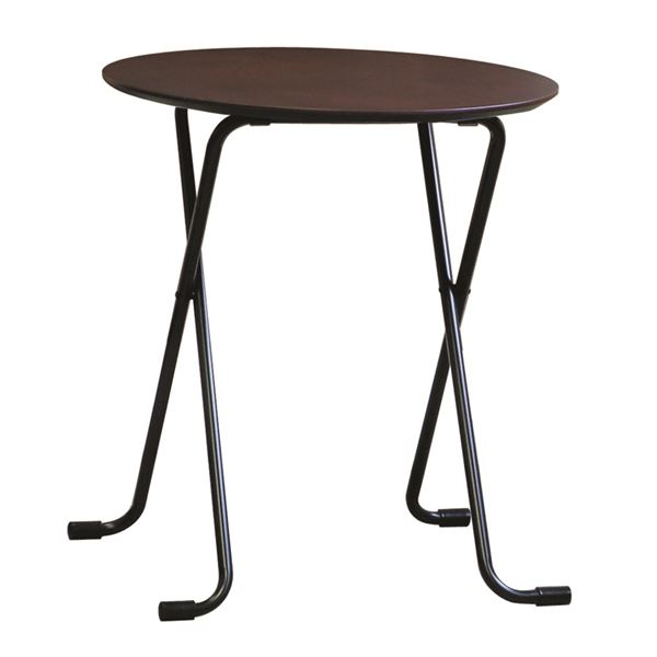 テーブル 丸 ダークブラウン/ブラック【代引不可】