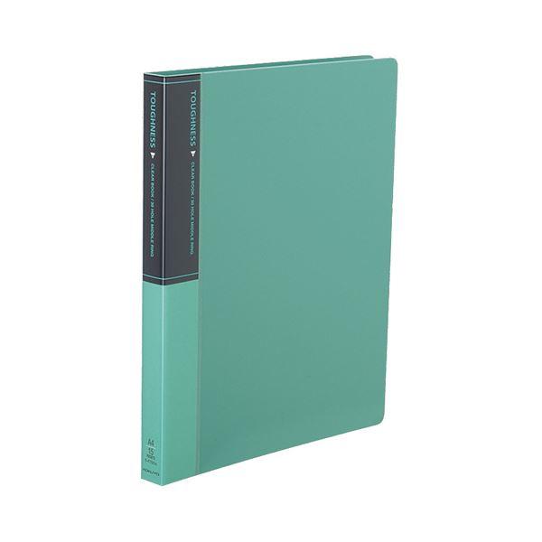 コクヨ クリヤーブック(タフネス)替紙式 A4タテ 30穴 15ポケット付属 背幅27mm 緑 ラ-F720G 1セット(10冊)