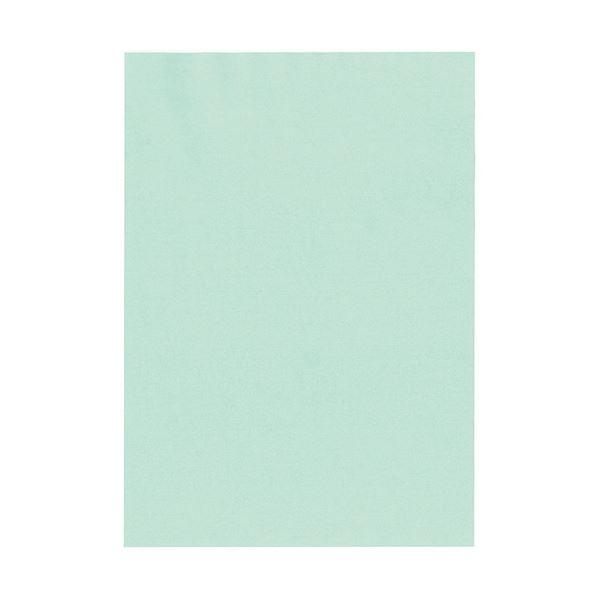 (まとめ) 北越コーポレーション 紀州の色上質A4T目 薄口 浅黄 1冊(500枚) 【×5セット】