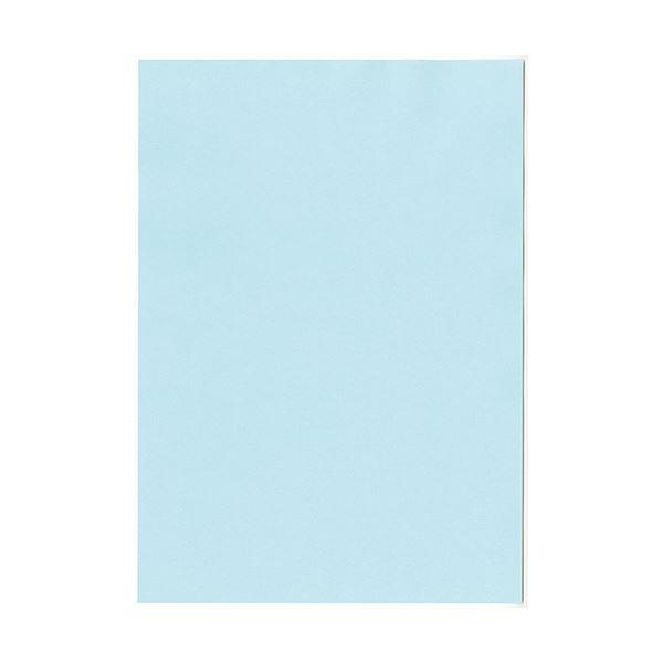 (まとめ) 北越コーポレーション 紀州の色上質A4T目 薄口 水 1冊(500枚) 【×5セット】