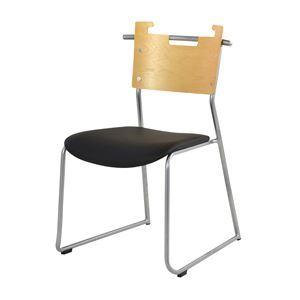 ダイニングチェア/食卓椅子 【2脚セット ブラック】 幅48.5×奥行53×高さ76cm スチール ソフトレザー 『マルカートチェア』