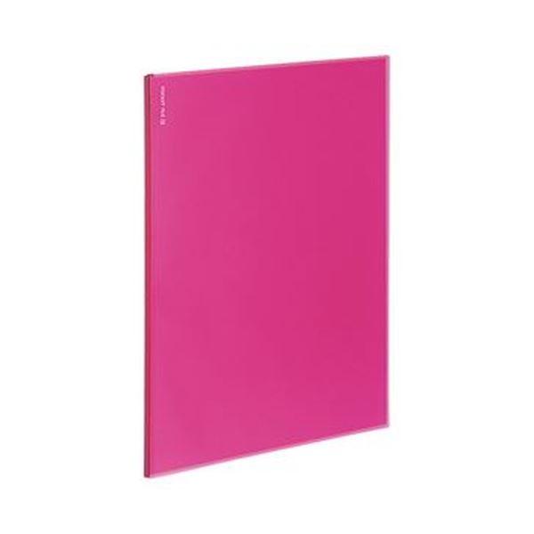 (まとめ)コクヨ ポケットファイルα(ノビータα)固定式 A4タテ 12ポケット 背幅3mm ピンク ラ-NF12P 1セット(10冊)【×5セット】