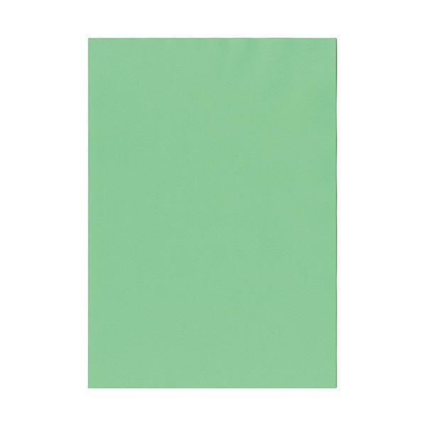 (まとめ) 北越コーポレーション 紀州の色上質A4T目 薄口 若竹 1冊(500枚) 【×5セット】