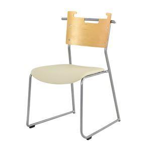 ダイニングチェア/食卓椅子 【2脚セット アイボリー】 幅48.5×奥行53×高さ76cm スチール ソフトレザー 『マルカートチェア』